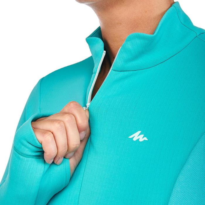 Langarmshirt SH500 Active Warm Damen Ceramic blaugrün