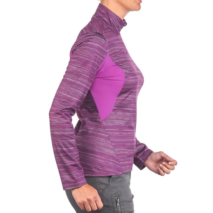 Tee-shirt de randonnée neige manches longues femme SH500 warm - 1179496