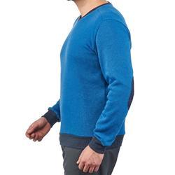 Jersey de senderismo en la naturaleza para hombre NH150 azul claro