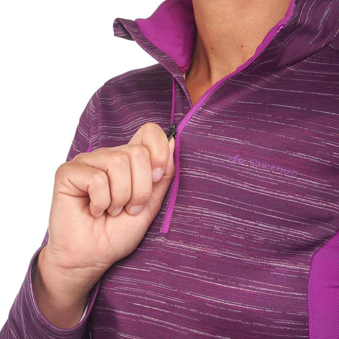 T-Shirt manches longues de randonnée neige femme SH300 chaud - 1179507