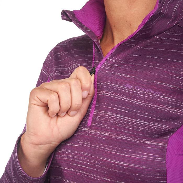 Tee-shirt de randonnée neige manches longues femme SH500 warm - 1179507