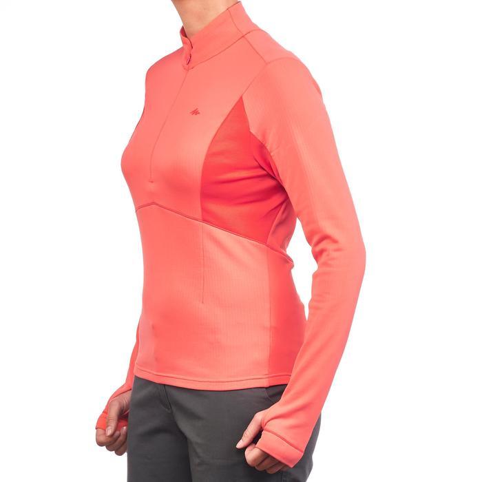 T-shirt lange mouwen voor wandelen in de sneeuw dames SH500 Active warm roze