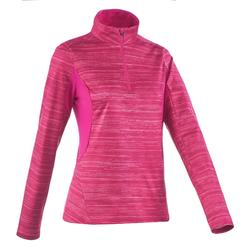 SH500 Warm Women's Long-Sleeved Snow Hiking T-Shirt - Pink