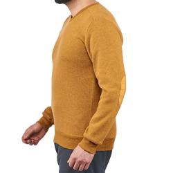 Pull randonnée nature homme NH150 ocre