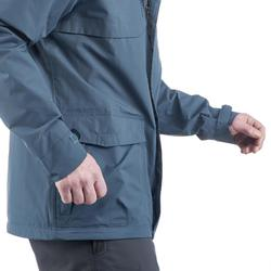 Chaqueta Impermeable senderismo en la naturaleza hombre NH400 gris