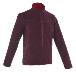 Forclaz 200 Men's Mountain Hiking Fleece Jacket - Chocolate Pr