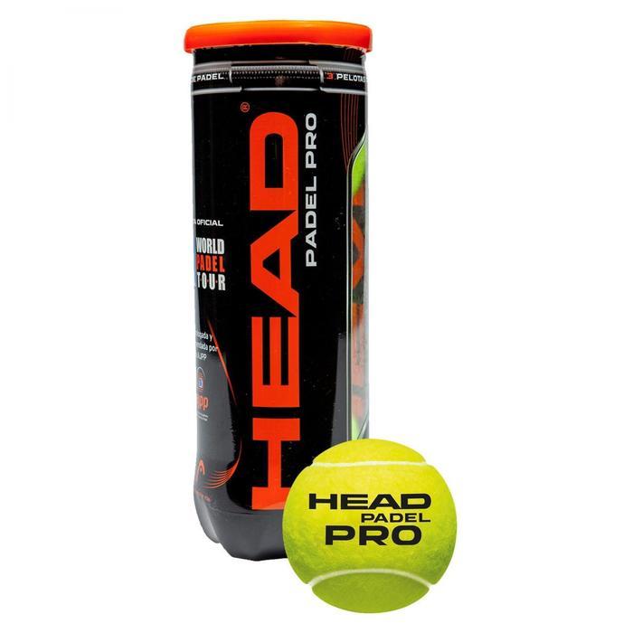 Balles de padel Head Pro Jaune - 1179739