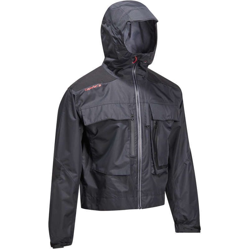VESTS AND PANTS - Wading fishing jacket-5 BLACK CAPERLAN
