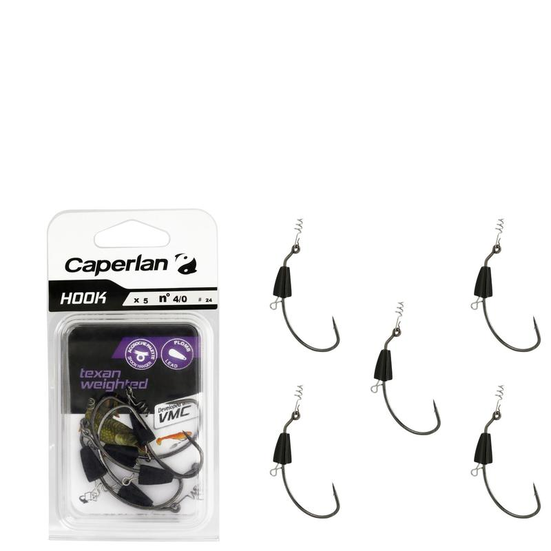 ANZUELO TEJANO PESCA HOOK TEXAN WEIGHTED 4/0