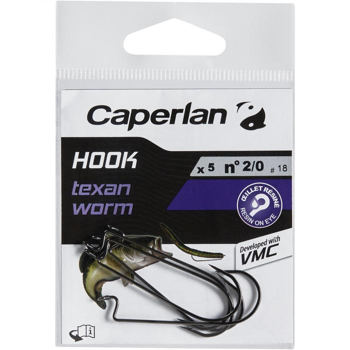 ANZUELO TEXAN PESCA HOOK TEXAN WORM 1/0
