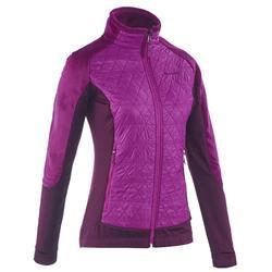 Wandelfleece voor de sneeuw dames SH500 Active Warm violet