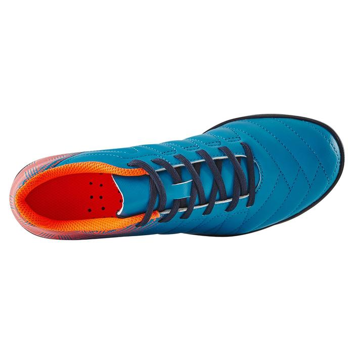 Chaussure de football enfant terrains durs Agility 300 HG bleue orange