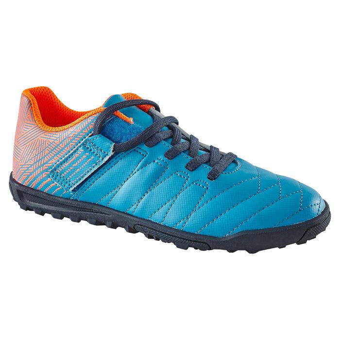 Chaussure de football enfant terrains durs Agility  300 HG à scratch bleue - 1180057