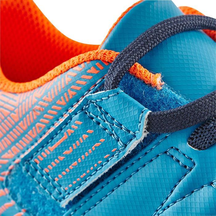 Chaussure de football enfant terrains durs Agility  300 HG à scratch bleue - 1180059