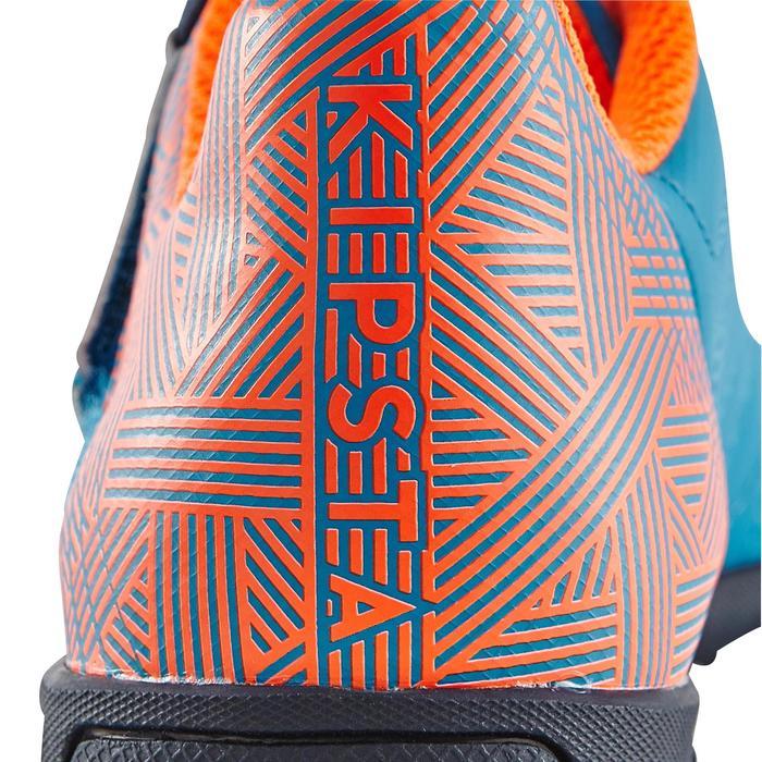 Chaussure de football enfant terrains durs Agility  300 HG à scratch bleue - 1180064