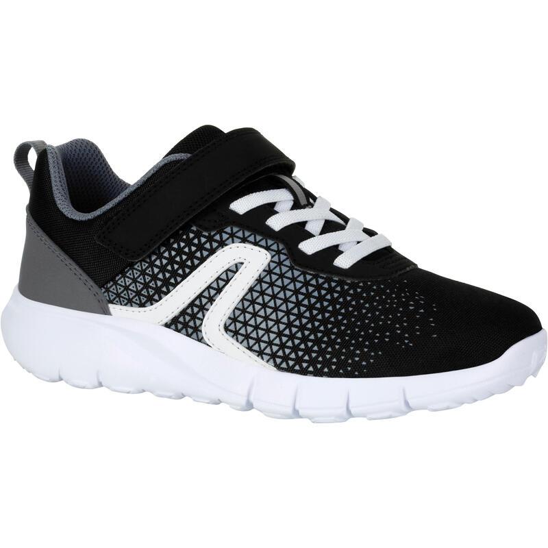 Buty do chodzenia dla dzieci Soft 140 czarno-białe