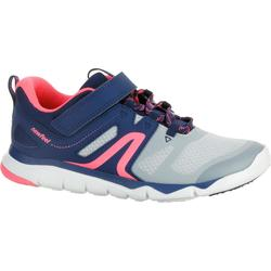 PW 540 Children's Fitness Walking Shoes - Grey/Blue/Pink