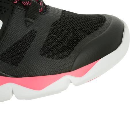 Tenis infantiles para marcha deportiva PW 540 negras/rosas