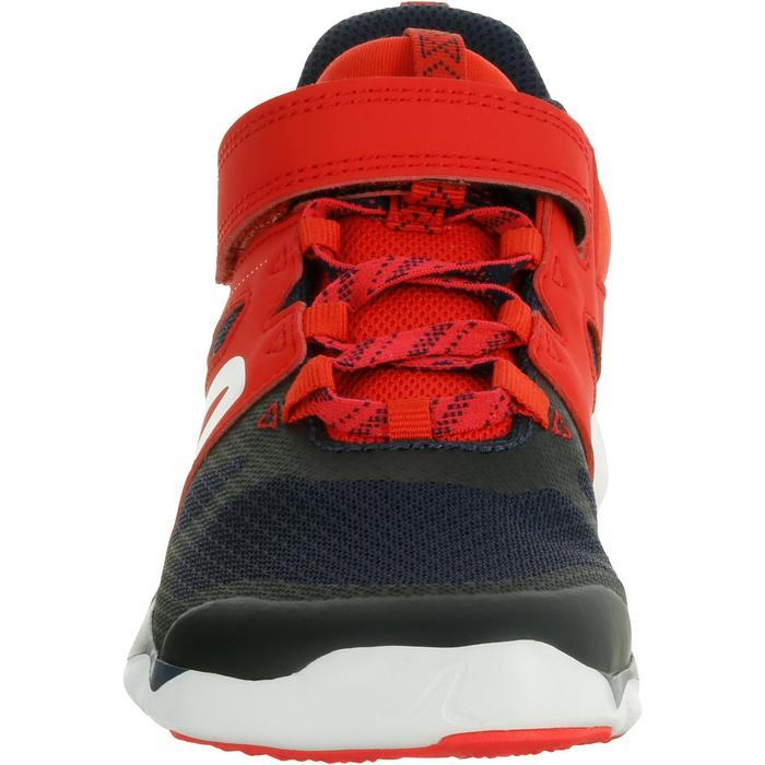 Zapatillas de marcha deportiva para niños PW 540 azul marino/rojo