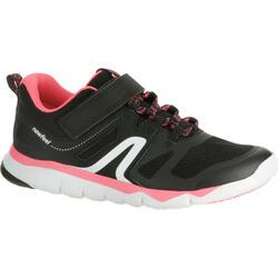 Zapatillas de Marcha Deportiva Newfeel PW 540 niña negro y rosa