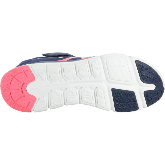Zapatillas de marcha deportiva para niños PW 540 gris / azul / rosa