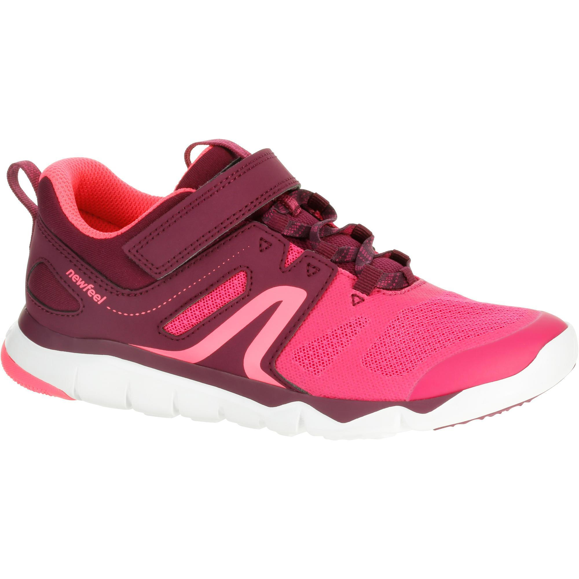 chaussures marche sportive enfant pw 540 rose violet. Black Bedroom Furniture Sets. Home Design Ideas