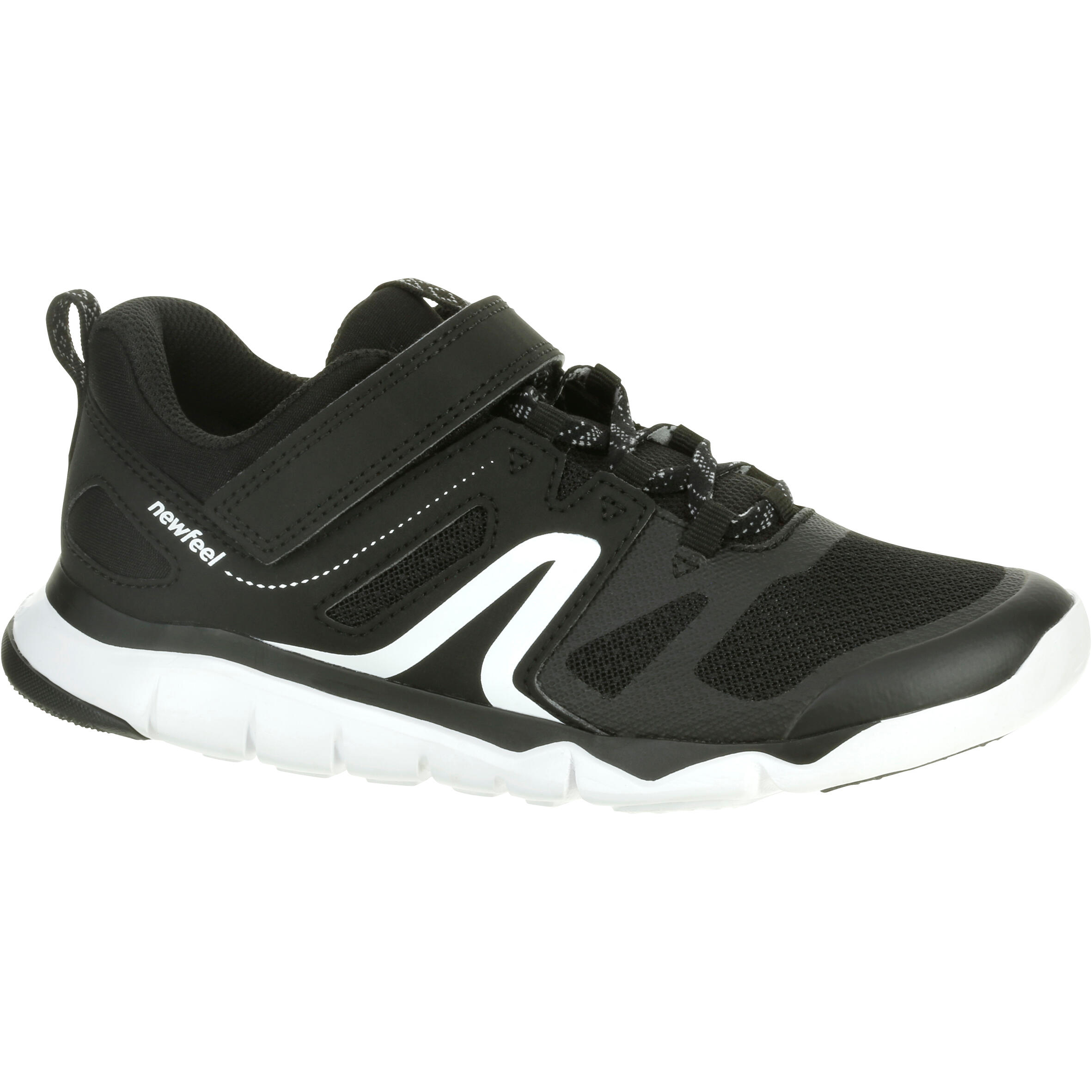 Walking shoes for kids PW 540 - black/white