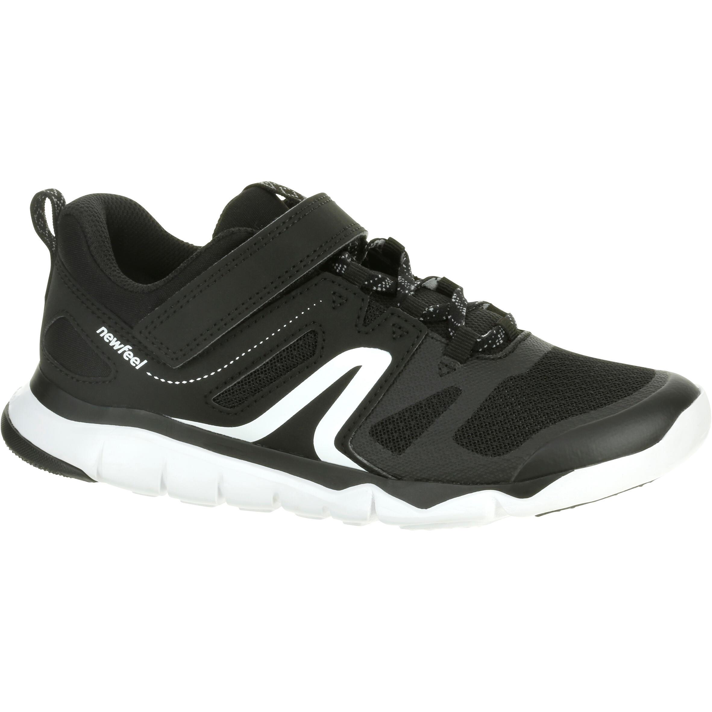 Chaussures marche enfant pw 540 noir blanc newfeel