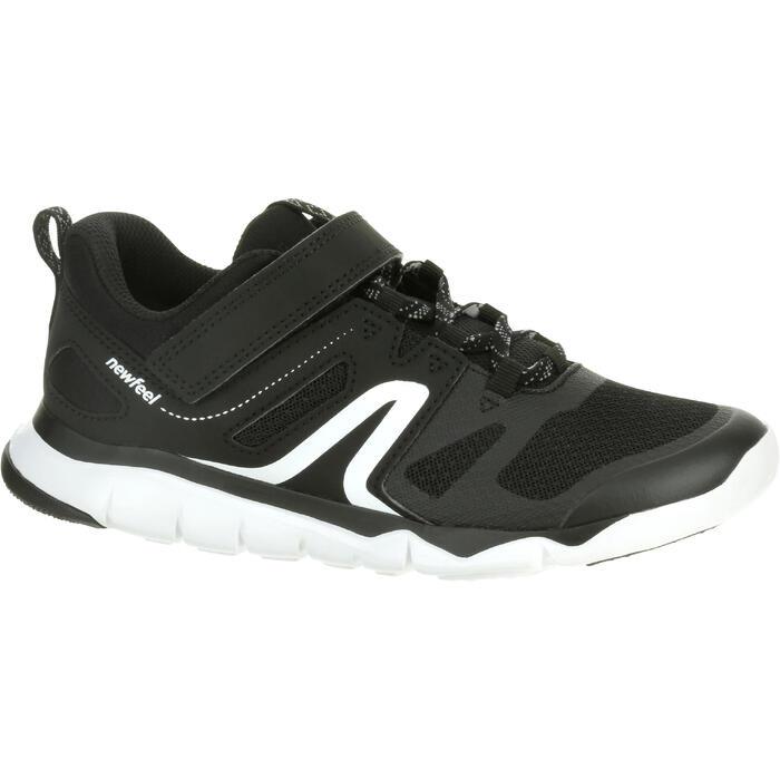 Kindersneakers voor sportief wandelen PW 540 zwart / wit