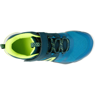 Дитячі кросівки PW 540 для спортивної ходьби - Блакитні/Зелені