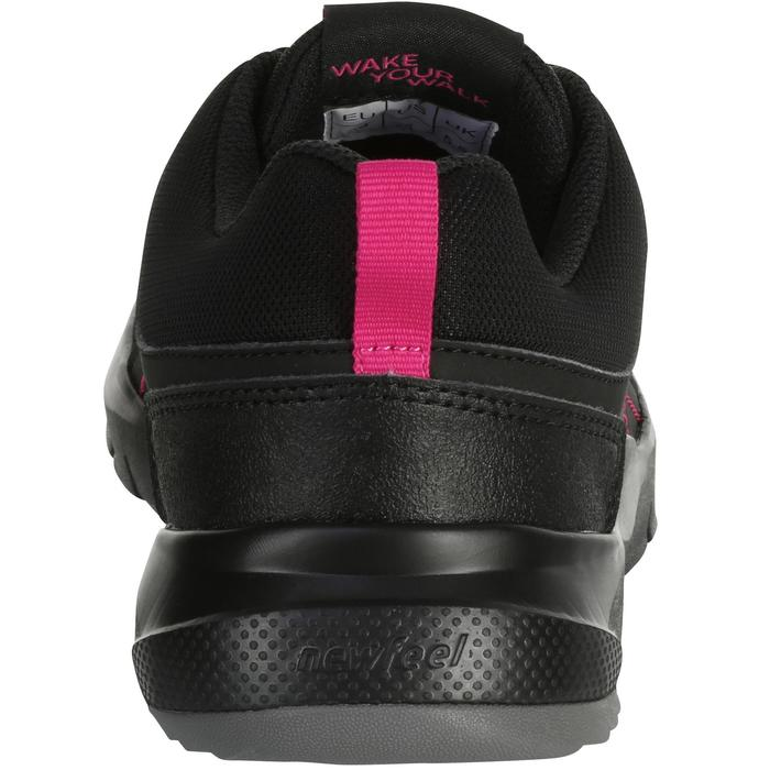Walkingschuhe HW 100 Damen schwarz/rosa