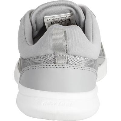 حذاء المشي النشيط للسيدات NEWFEEL SOFT 100 - رمادي فاتح