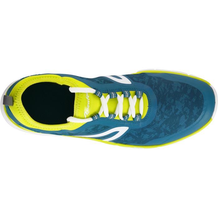 Zapatillas de marcha deportiva hombre PW 580 Waterproof azul / verde