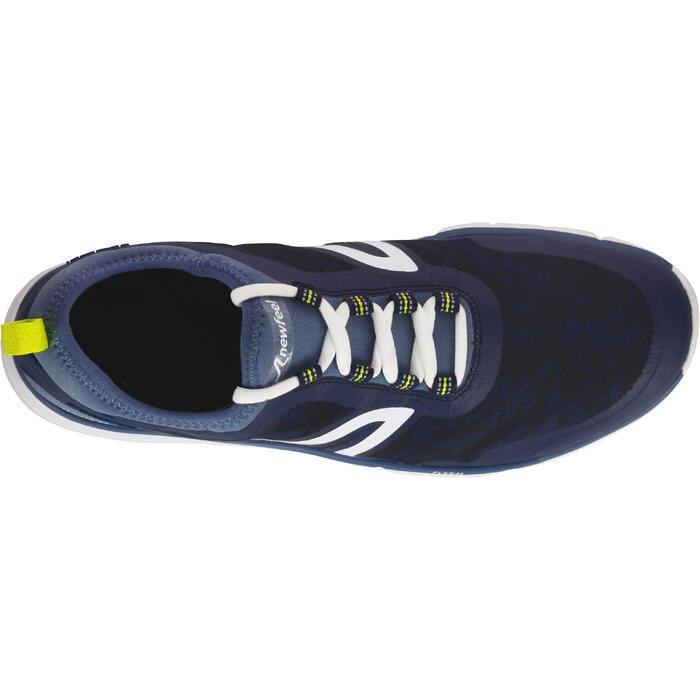 Zapatillas Marcha Deportiva Newfeel PW 580 impermeables hombre azul/gris