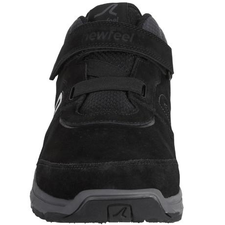 dafc5f09fdf3 HW 140 Strap Leather Men s Fitness Walking Shoes - Black. Previous. Next