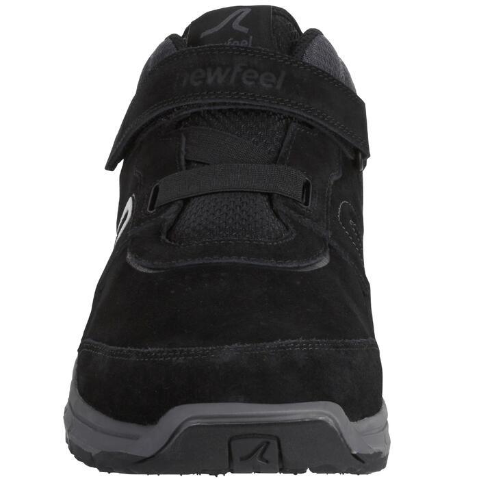 Chaussures marche sportive homme HW 140 Strap cuir noir - 1180470