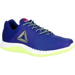 Herensneakers ZPrint walk blauw / geel