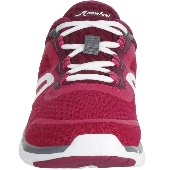 Damessneakers voor sportief wandelen Soft 540 mesh roze/paars
