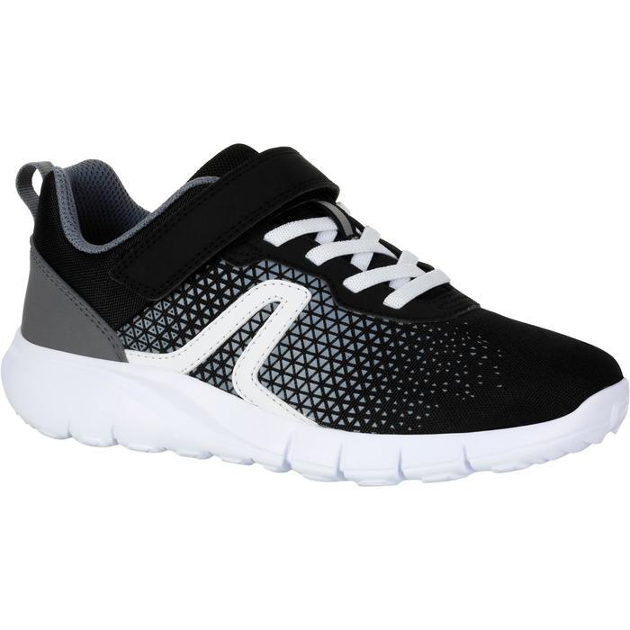 Zapatillas de Marcha Deportiva Newfeel Soft 140 niño negro y blanco