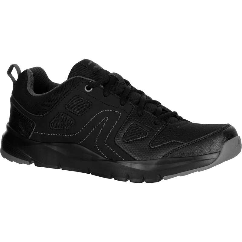 Herren Sport Walking Schuhe Männerschuhe - Walkingschuhe HW 100 schwarz NEWFEEL - Männerschuhe