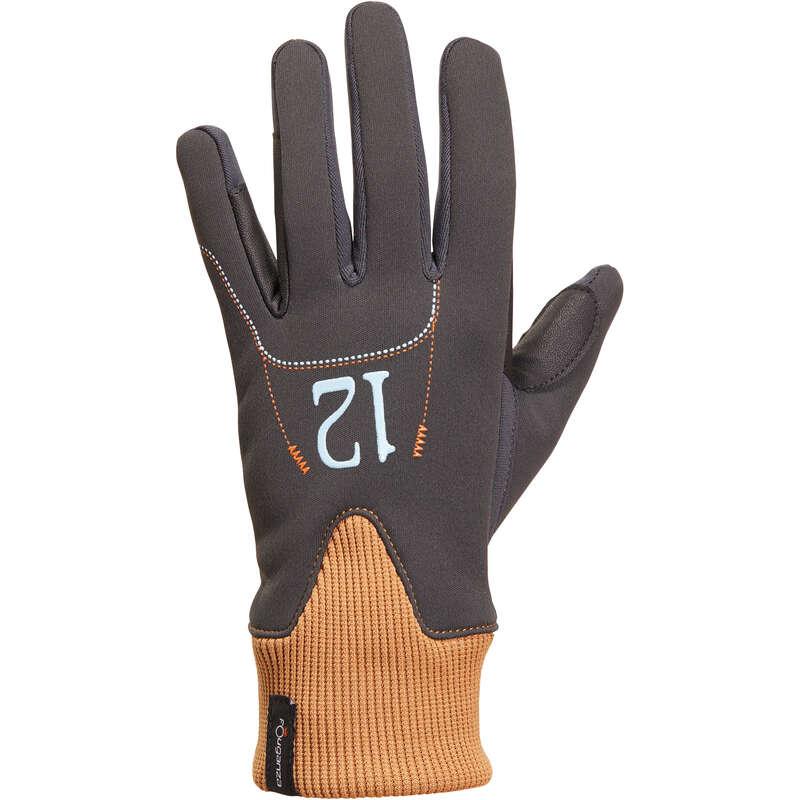 KID COLD WEATHER RIDING GLOVES/SOCKS - Easywear Warm Gloves - Grey FOUGANZA