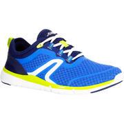 Tenis - caminata deportiva hombre Soft 540 azul / amarillo