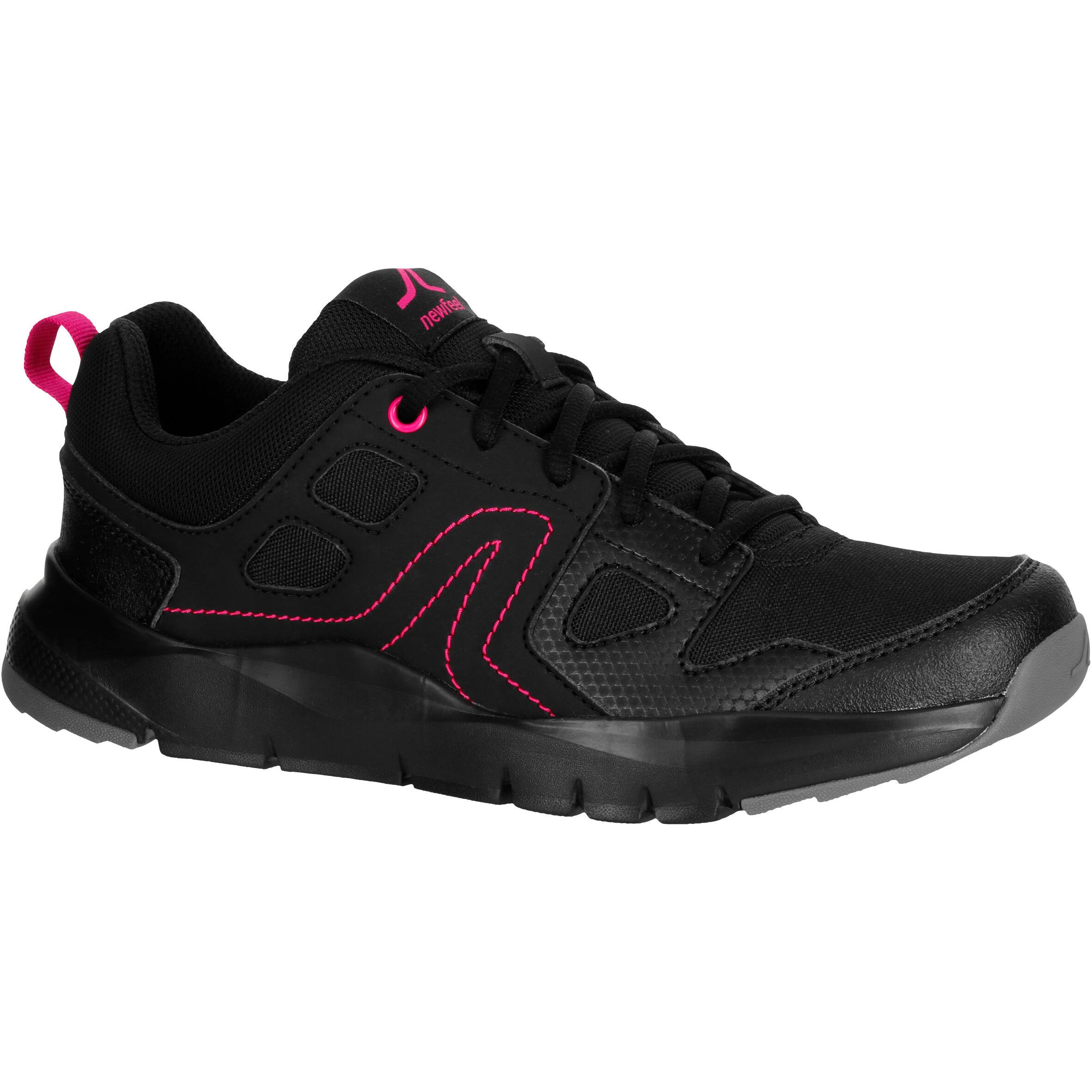 Newfeel Damessneakers voor sportief wandelen HW 100 zwart / roze