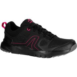 HW 100 Women's Fitness Walking Shoes - Black/Pink