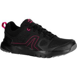 女款健走鞋HW 100-黑色/粉紅色