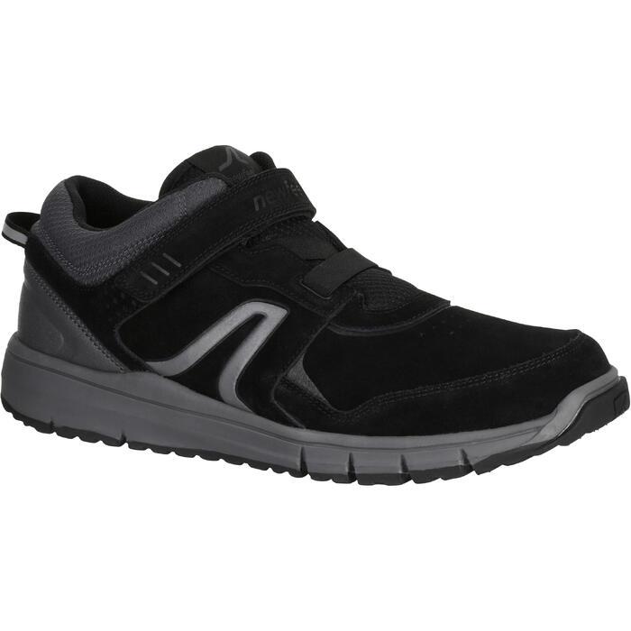 Chaussures marche sportive homme HW 140 Strap cuir noir - 1180847
