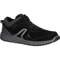 HW 140 Strap Men's Fitness Walking Shoes - Black Leather