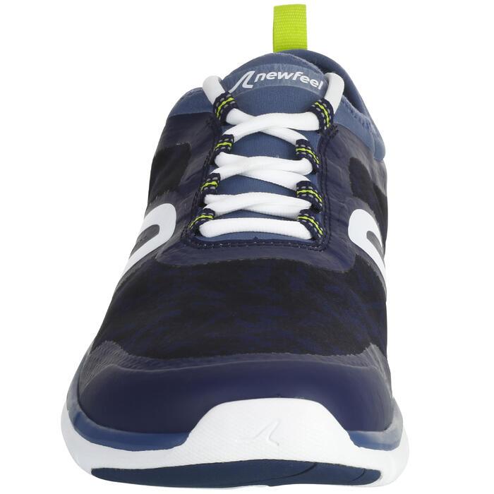 Waterdichte herensneakers voor sportief wandelen PW 580 plasma blauw / grijs