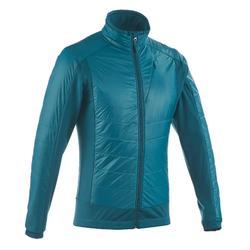 男士冬季登山保暖摇粒絨 SH500 ACTIVE - 藍
