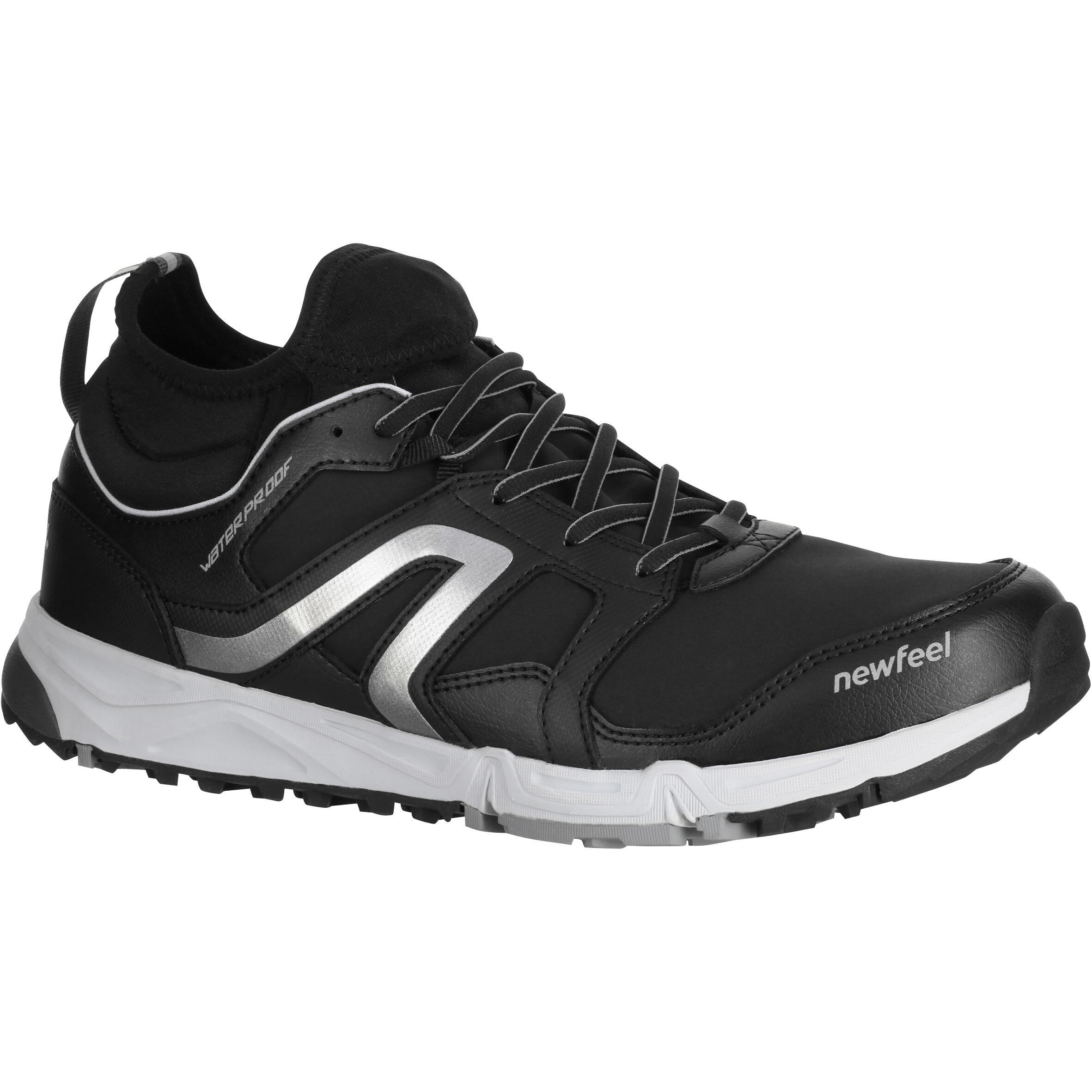 NordicWalkingschuhe NW580 FlexH wasserdicht Herren schwarz   Schuhe > Sportschuhe > Walkingschuhe   Newfeel